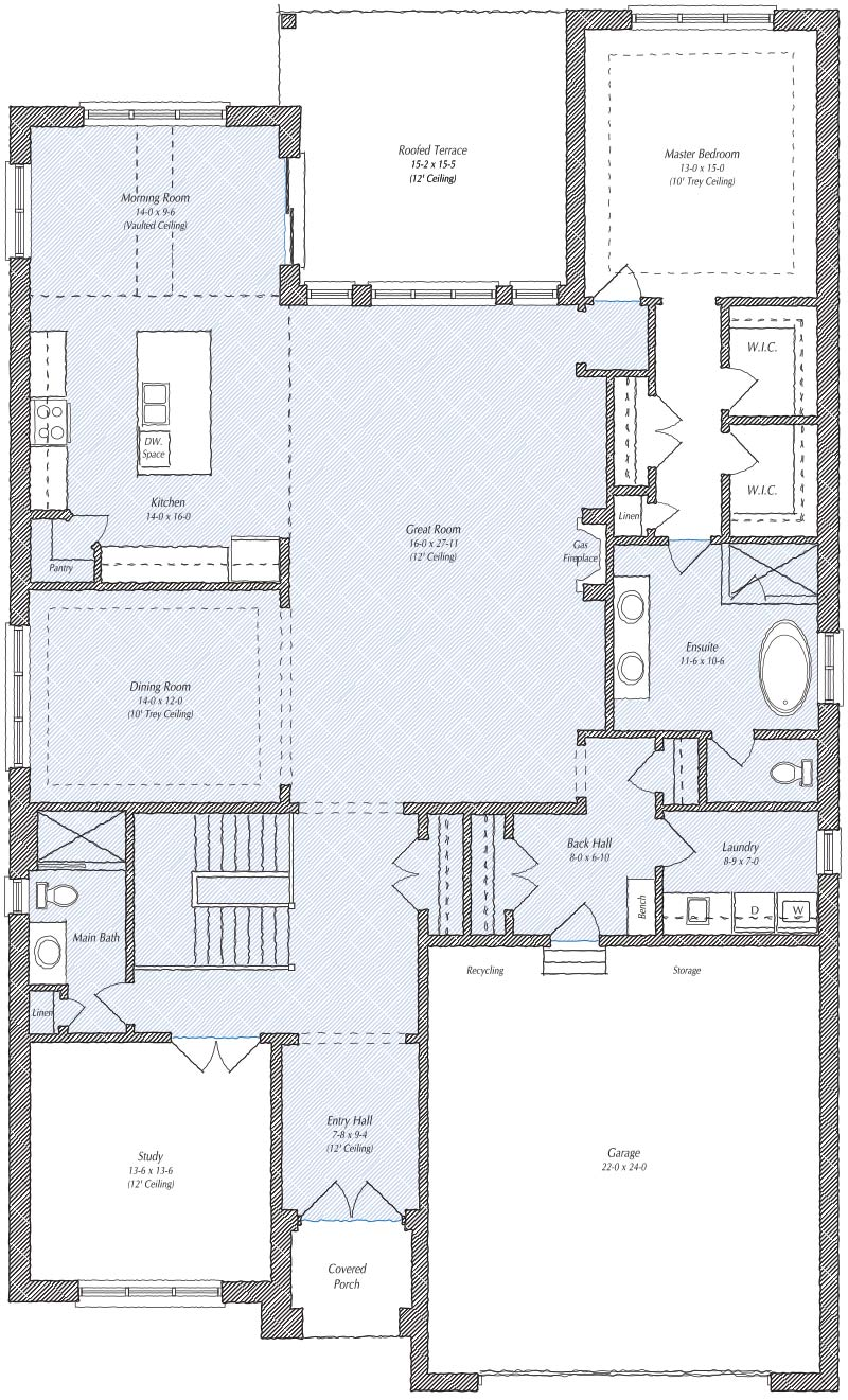 The Charleston Floorplan