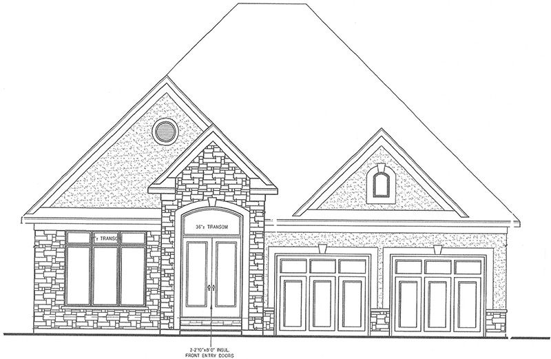 The Ridgeview Front Elevation