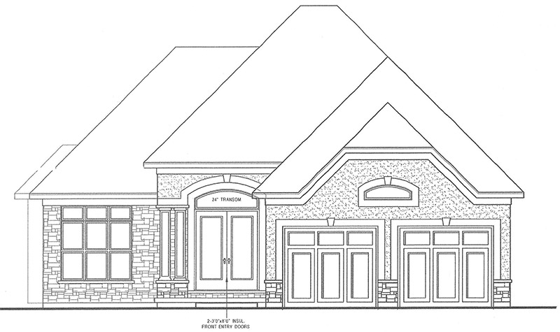 The Rosedale Front Elevation